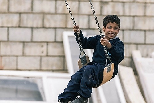 Child-friendly space in Syria