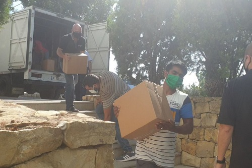 MERATH Lebanon_Beirut explosions_Food boxes ABTS guesthouse